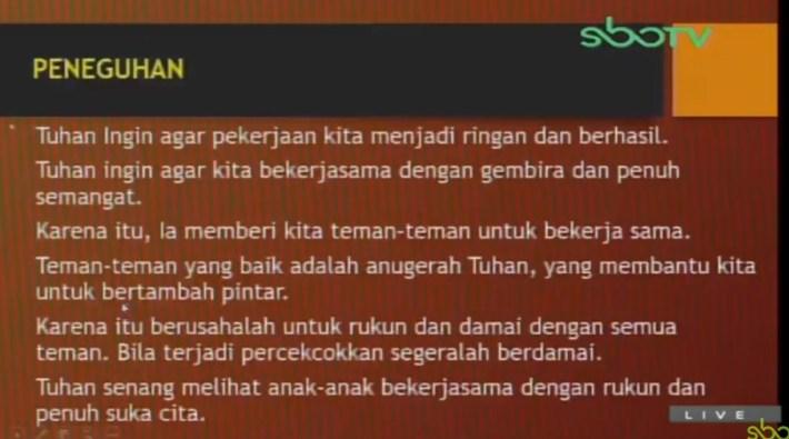 Soal dan Jawaban SBO TV 14 Agustus SD Kelas 2