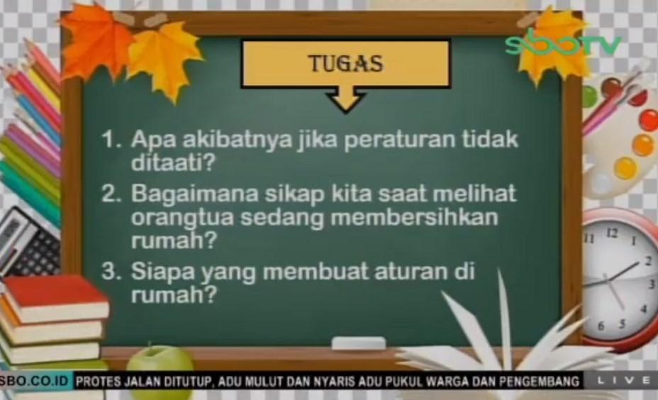 Soal dan Jawaban SBO TV 5 Agustus SD Kelas 1