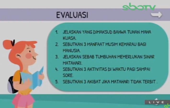 Soal dan Jawaban SBO TV 28 Agustus SD Kelas 3
