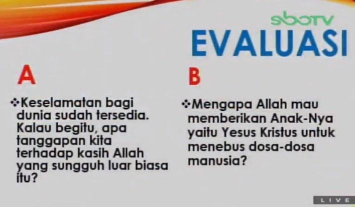Soal dan Jawaban SBO TV 27 Agustus SD Kelas 5