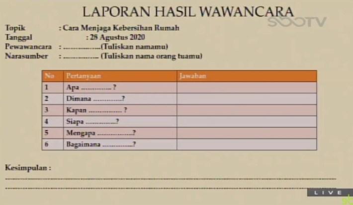 Soal dan Jawaban SBO TV 28 Agustus SD Kelas 4