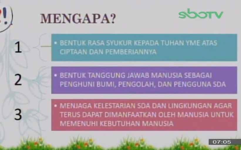 Soal SBO TV 16 September 2020 Kelas 4