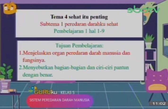 Soal SBO TV 24 September 2020 Kelas 5
