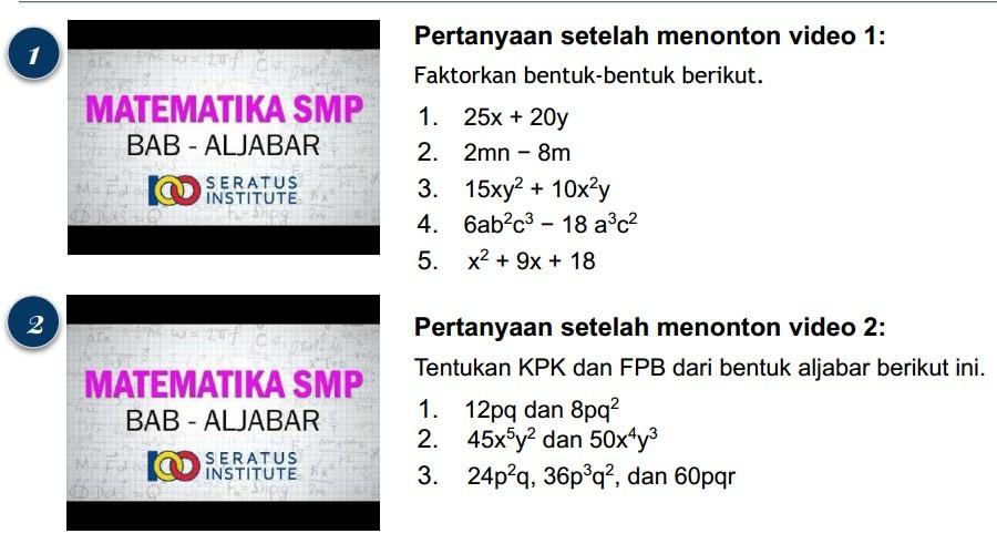 Tentukan KPK dan FPB dari bentuk aljabar dari 12pq dan 8pq2
