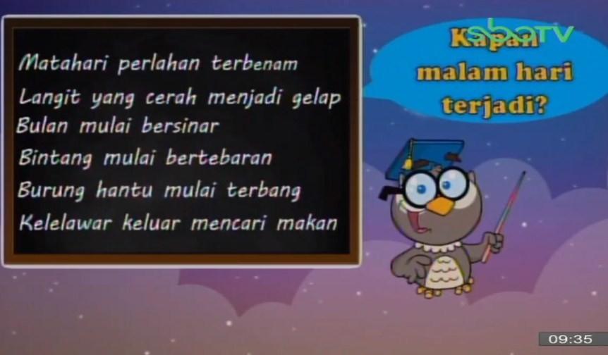 Soal dan Jawaban SBO TV 13 Oktober SD Kelas 1