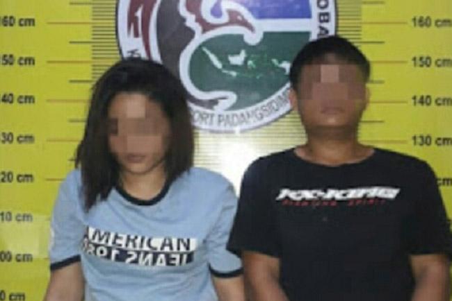 Sepasang Remaja Padangsidimpuan Tercyduk Sedang Mengisap Sabu