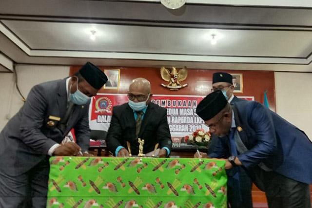 DPRD Raja Ampat Bahas Raperda LKPD Hasil Audit BPK TA 2019