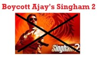 boycott anti Hindu ajay devgunn's movie singham 2