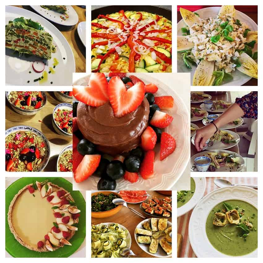 collage of 10 vegan dishes
