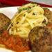aubiballs with pasta
