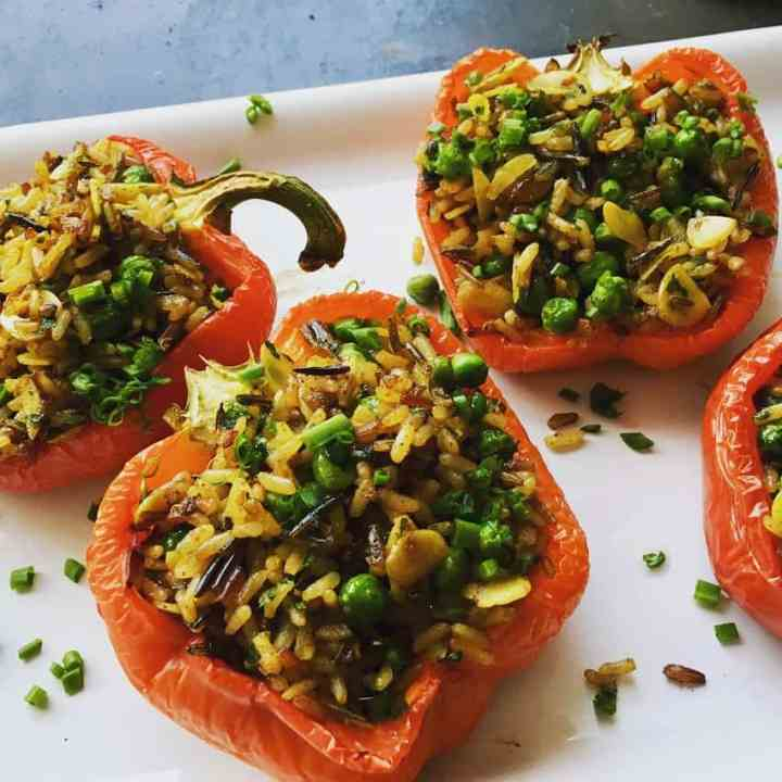 stuffed peppers with fried rice