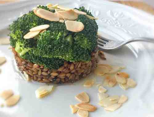 black garlic spelt with broccoli