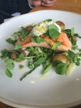 Sea Trout with Peas & Samphire