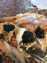 Crispy Fish Fins with Caviar
