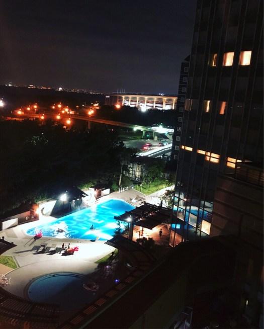 泊まったAPAホテルからの夜景