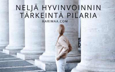 Neljä hyvinvoinnin tärkeintä  pilaria