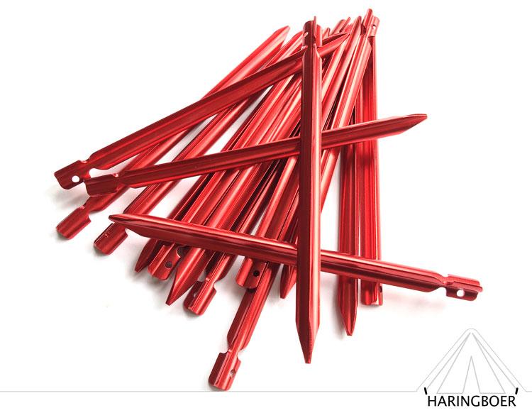 15cm rode aluminium vleugelharingen kopen haringen voor uw tent haring