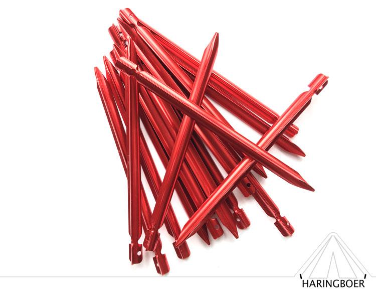 aluminium vleugelharingen kopen 15cm rode haringen voor uw tent haring