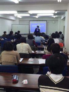 鍼道五経会の二診合参講義の写真