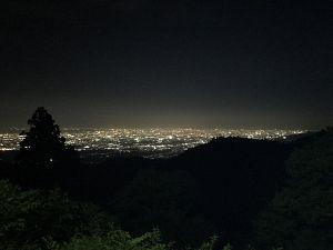 金剛山から見た大阪の夜景の写真