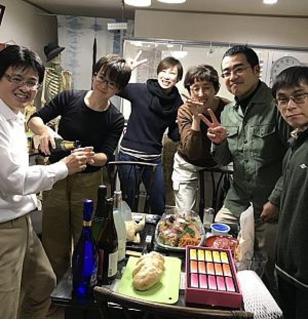 鍼道五経会 東京講座の忘年会の写真
