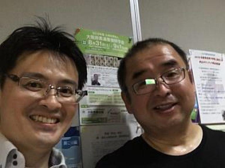 岡山総社市の石堂智行先生と鍼道五経会の足立繁久先生