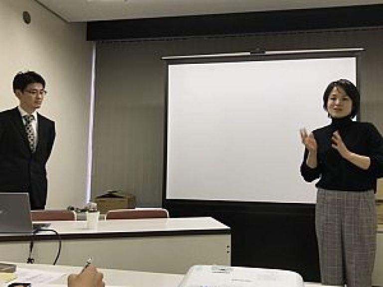 軒岐会で発表する森裕子先生