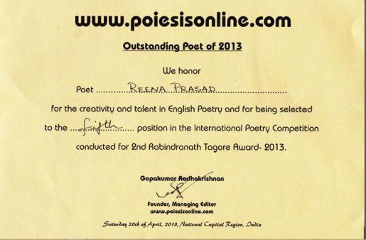 Rabindranath tagore Awards