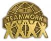 213 7561 1 - Teamwork Pin (Brown)