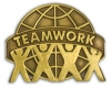 213 7561 1 - Teamwork Pin (Brown)