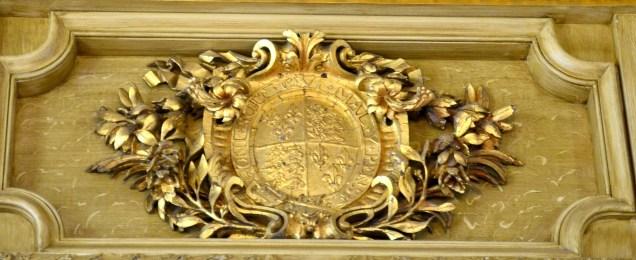 Coat of arms above Ante Room door
