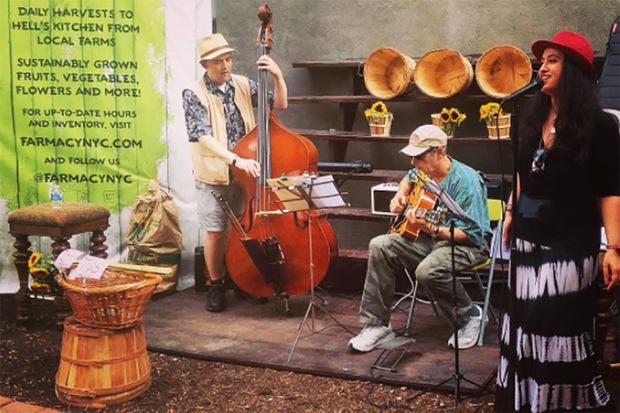 Farmacy NYC –the newly-opened farmstand in Hell's Kitchen –will provide live jazz performance each Sunday.