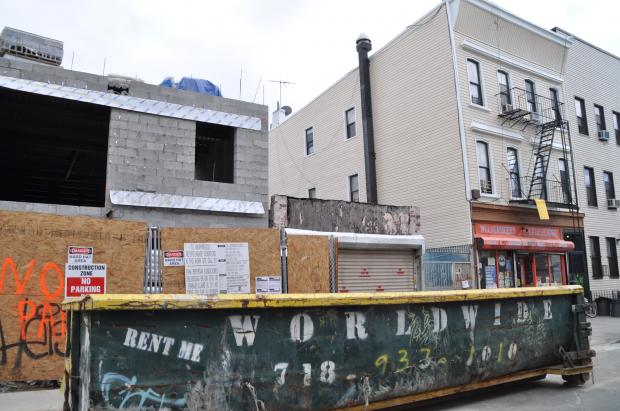 New construction in Bushwick.