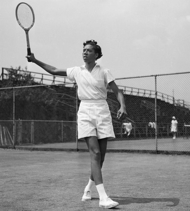 Althea Gibson at the West Side Tennis Club Forest Hills NY ca 1950 Credit Corbis