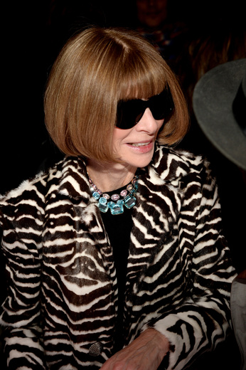 Editor-in-Chief of American Vogue Anna Wintour attends the FENTY PUMA by Rihanna AW16 Collection during Fall 2016 New York Fashion Week