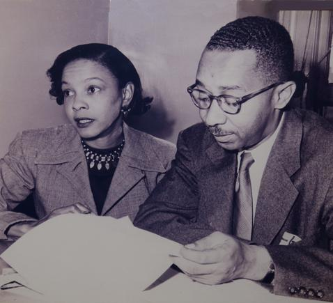 Mamie Phipps Clark and husband kenneth