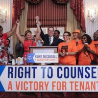 Rep. Levine And Others Leaders Celebrate Passage Of Landmark Tenants' Rights Bill