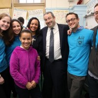 Yeshiva University P.S. 189 President Rabbi Dr. Ari Berman and New York State Assemblywoman Carmen De La Rosa