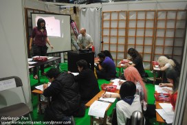 A drawing class taking place