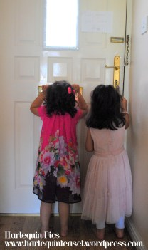 Nieces shouting through the letter box