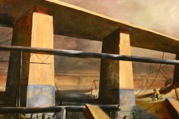 Manifold_Harley_Bridge_2007_Oil_on_board_100x130