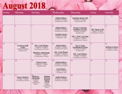 August APC Calendar