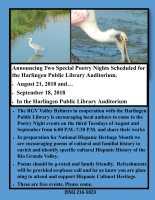 Poetry Event @ Harlingen Public Library - Auditorium