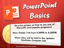 Powerpoint Basics @ Harlingen Public Library - Nonfiction Computer Lab