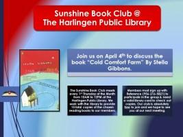 Sunshine Book Club @ Harlingen Public Library - Conference Room