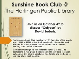 Sunshine Book Club @ Harlingen Public Library - Quiet Room