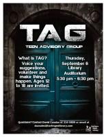 Teen Advisory Meeting @ Harlingen Public Library - Auditorium