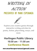 Writing in Action @ Harlingen Public Library - Conference
