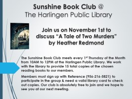 Sunshine Book Club @ Harlingen Public Library - Nonfiction Quiet Room