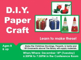 D.I.Y. Paper Craft @ Harlingen Public Library - Conference Room